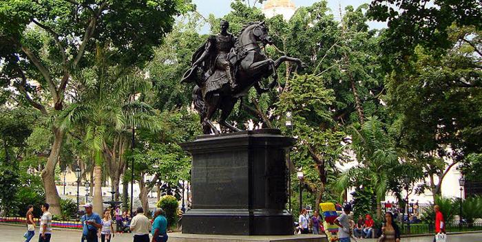 Bolivar Square, Caracas, Venezuela