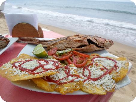 Fried Fish and Tostones - Favorite Venezuelan Gastronomy of Gustavo Adolfo Mirabal Castro