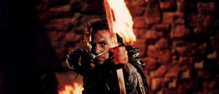 Robin Hood played by Kevin Costner