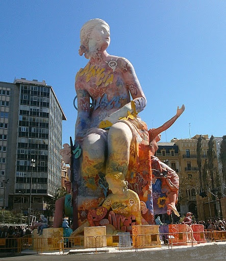 "Photo of one of the ""Fallas"" in Valencia Spain"