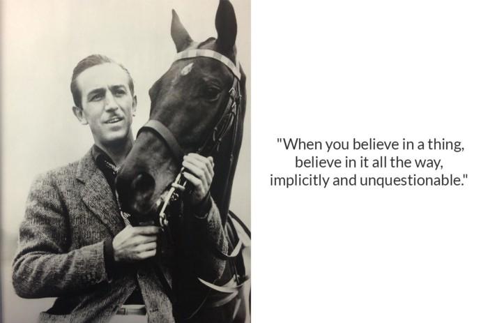 Walt Disney with a horse