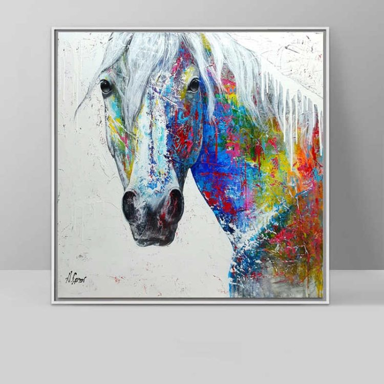 Colorful Horse Paintings - Modern Decoration for Horse Lovers