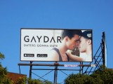 Daters gonna date Gaydar billboard