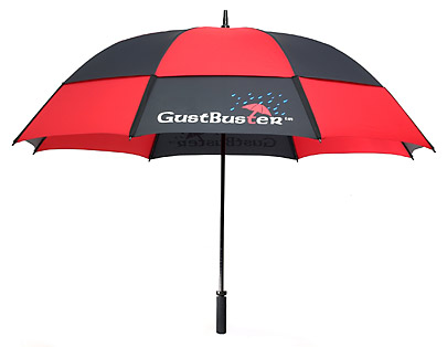 Gustbuster printed golf umbrella red-black