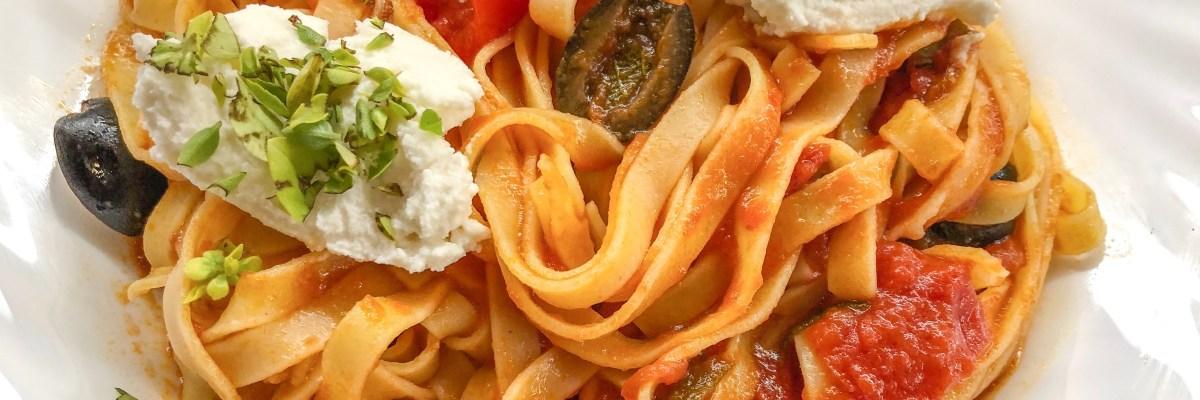 Tagliatelle Pomodoro e Olive