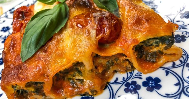 Cannelloni mit Ricotta und Bärlauch