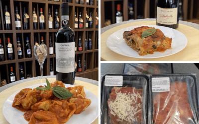 čerstvé a hotové Italské těstoviny
