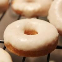 Mini Macadamia Nut Donuts with White Chocolate Glaze