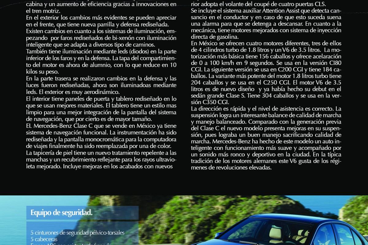 Merces-Benz Clase C «Rediseño aerodinámico con estilo» vía Revista Taste