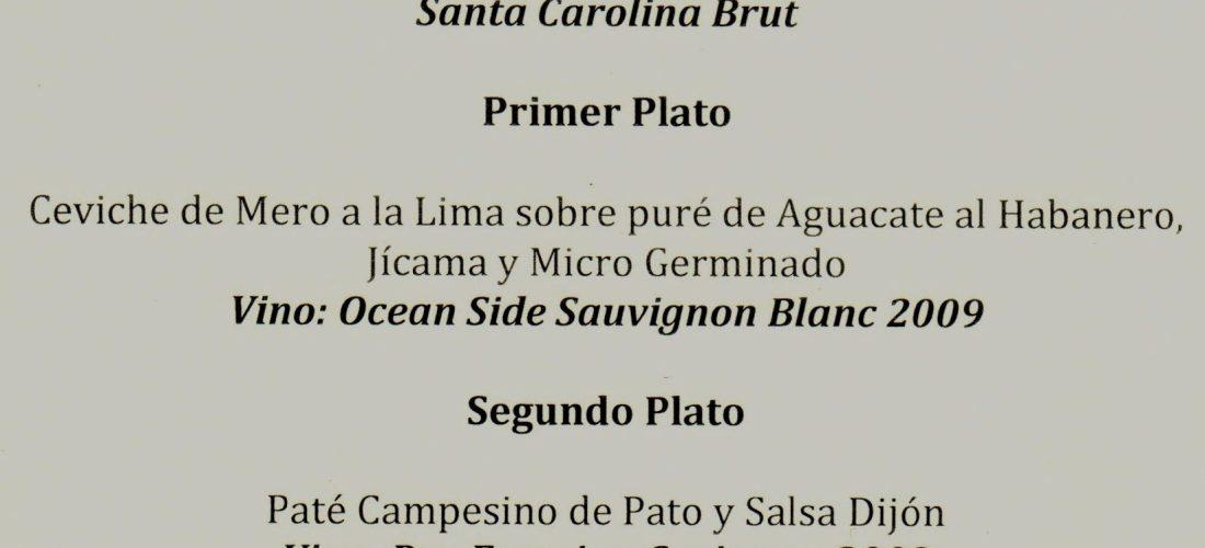 """Cena Maridaje Viñas Santa Carolina"" Hacienda Xcanatún Mérida"