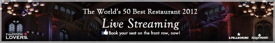 """Te perdiste la transmisión en vivo de  """"Los mejores 50 restaurantes del Mundo 2012"""" ? Te dejamos la repetición"""