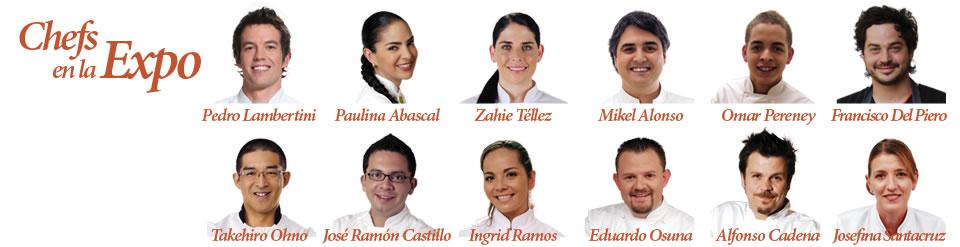 Conoce a los Chefs en la Expo @elgourmet @Expoelgourmet 5 al 7 Octubre Centro Banamex