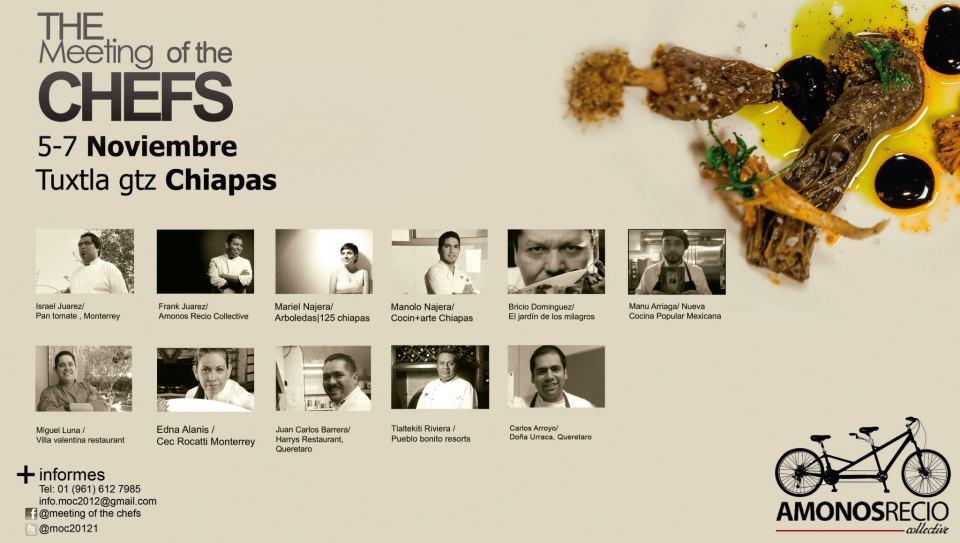 """Todo sobre """"The Meeting of the Chefs"""" 5 al 7 de Noviembre 2012 Tuxtla Gutierrez Chiapas vía Todo Chiapas"""