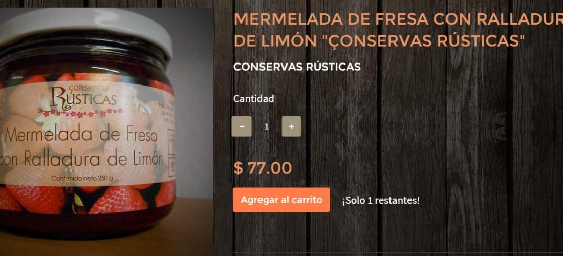 """Gourmands Market Mermelada de Fresa con Ralladura de Limón """"Conservas Rústicas"""" @ConservasRustic"""