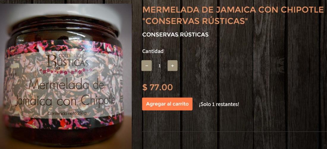 Gourmands Market Mermelada de Jamaica con Chipotle «Conservas Rústicas» @ConservasRustic