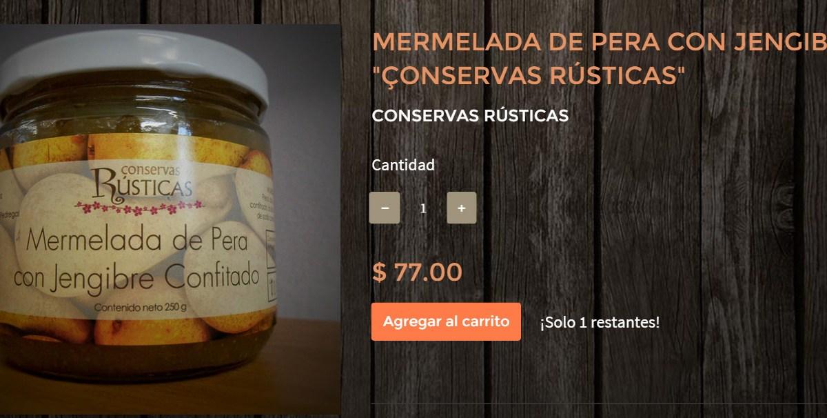 """Gourmands Market Mermelada de Pera con Jengibre """"Conservas Rústicas"""" @ConservasRustic"""