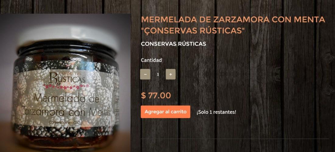 Gourmands Market Mermelada de Zarzamora con Menta «Conservas Rústicas» @ConservasRustic