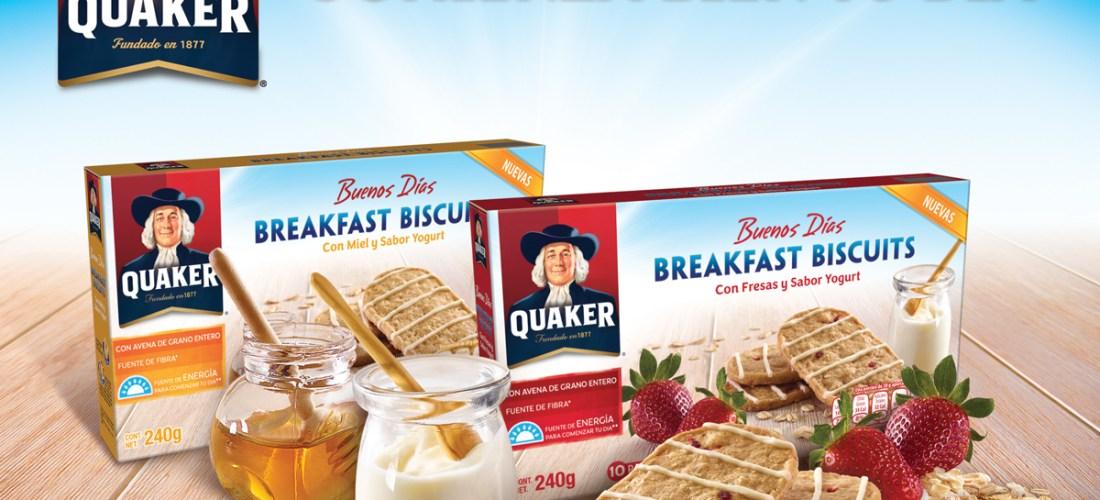 Quaker® presenta las nuevas galletas Breakfast Biscuits, ideales para acompañar el desayuno