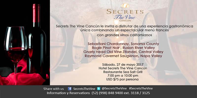 Secrets The Vine Cancún te invita a disfrutar del la cocina francesa. @SecretsTheVine