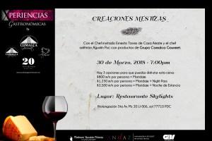 """#XperienciasGastronomicas by @comalcagourmet presenta """"Creaciones Mestizas"""" @SkylightsRestaurant #PlatinumYucatanPrincess"""