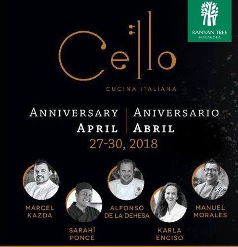 @Banyan_Tree sabores italianos: Aniversario  Cello Cucina Italiana