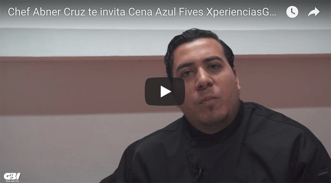 Invitación del Chef Abner Cruz Cena Azul Fives 1 junio