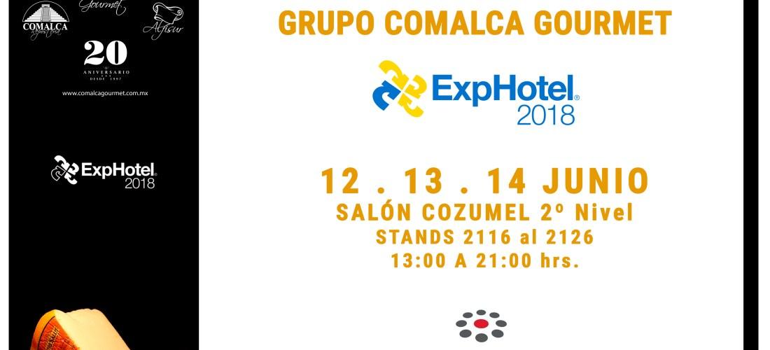 Visita el Pabellón de Grupo @comalcagourmet #ExpHotel 2018