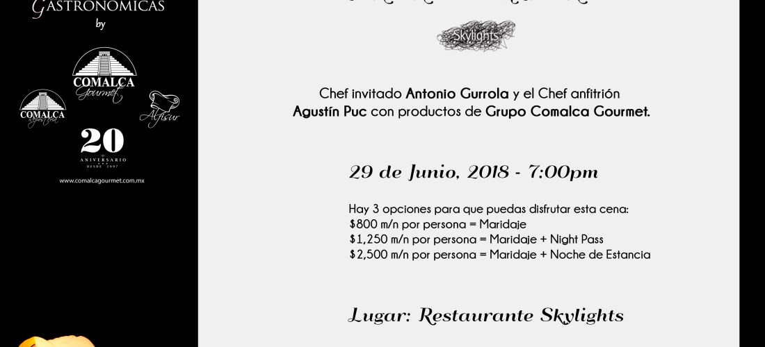 29 de Junio Cena Cantón Mexicano en @PrincessHotels #XperienciasGastronomicas
