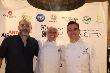 Carlos Roura, Guy Santoro y Azari Cuenca