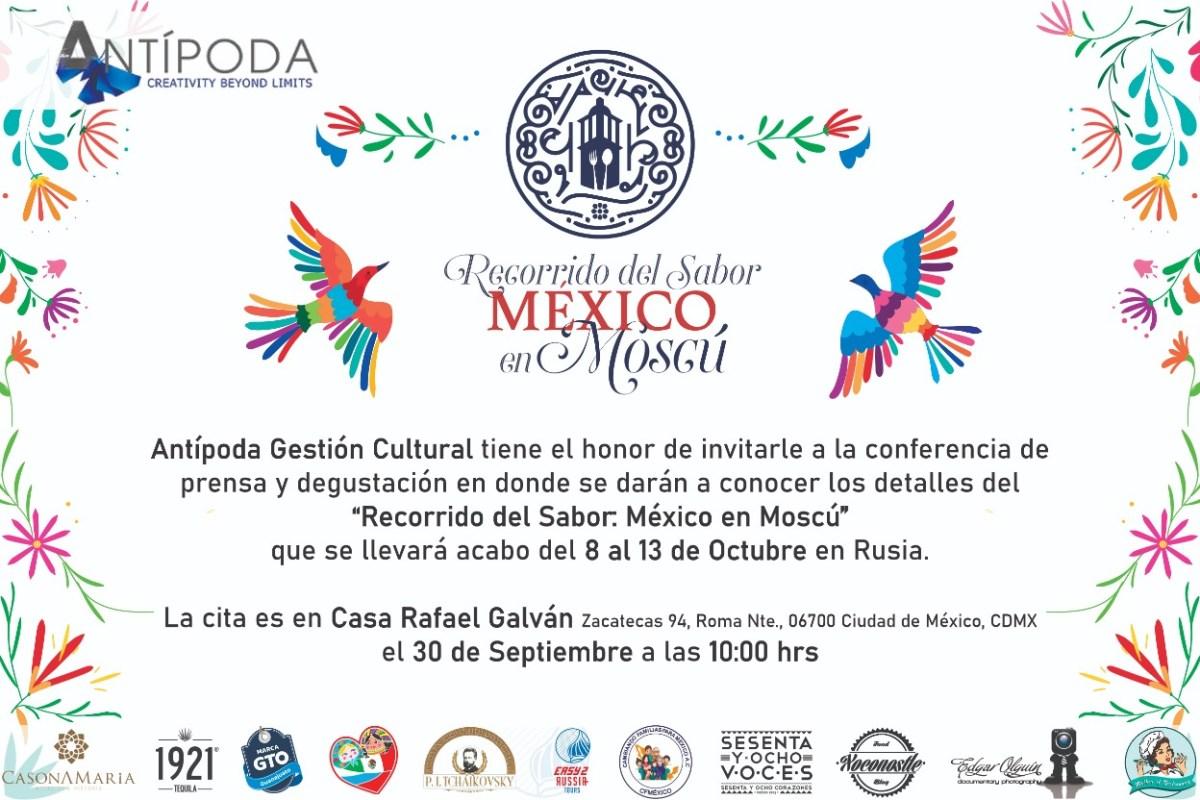 Recorrido del sabor: México en Moscú