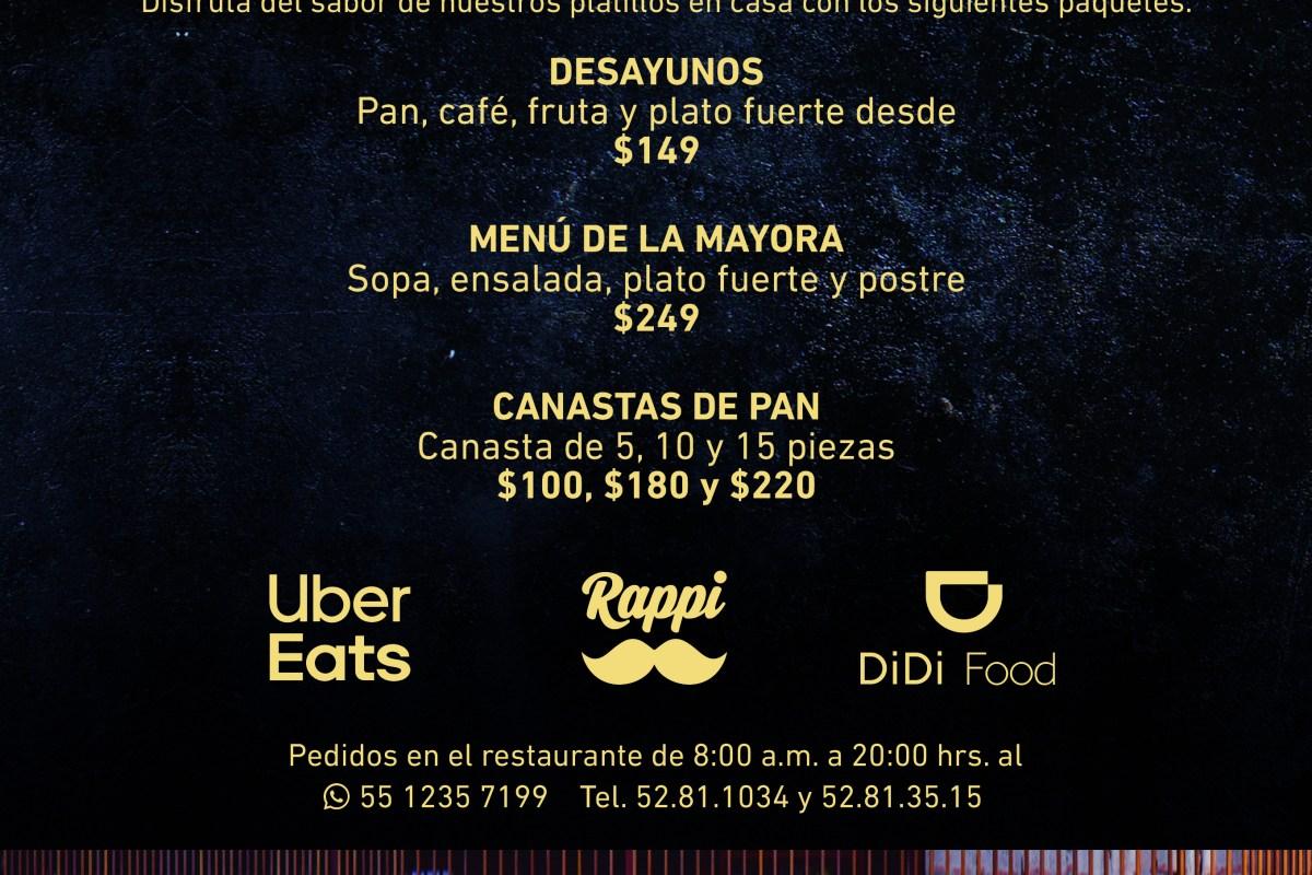 Lleva los sabores de Mexicano Masaryk a casa @mexicanomasaryk #MexicanoMasaryk #QuédateEnCasa