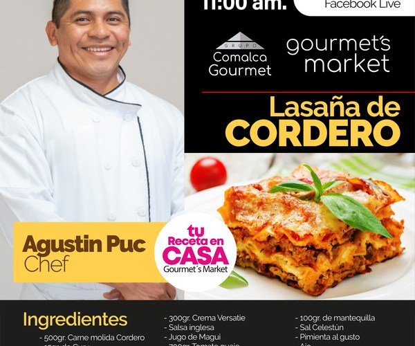 Lasaña de Cordero by Gourmets Market: Xperiencias Gastronómicas