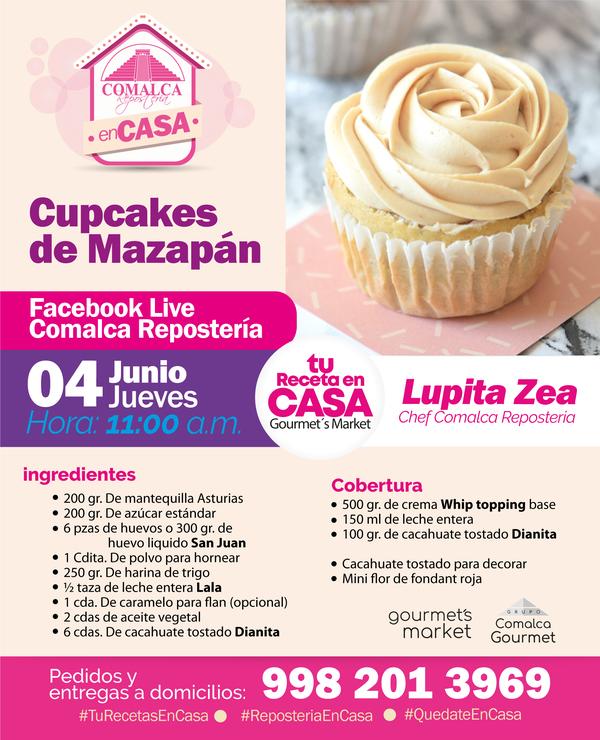 Cupcakes de Mazapán con la Chef Guadalupe Zea by Comalca Repostería