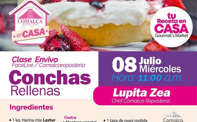 Conchas rellenas by Comalca Repostería con chef Lupita Zea