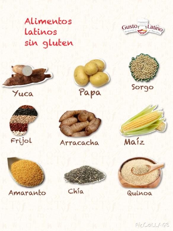 Alimentos latinos sin gluten