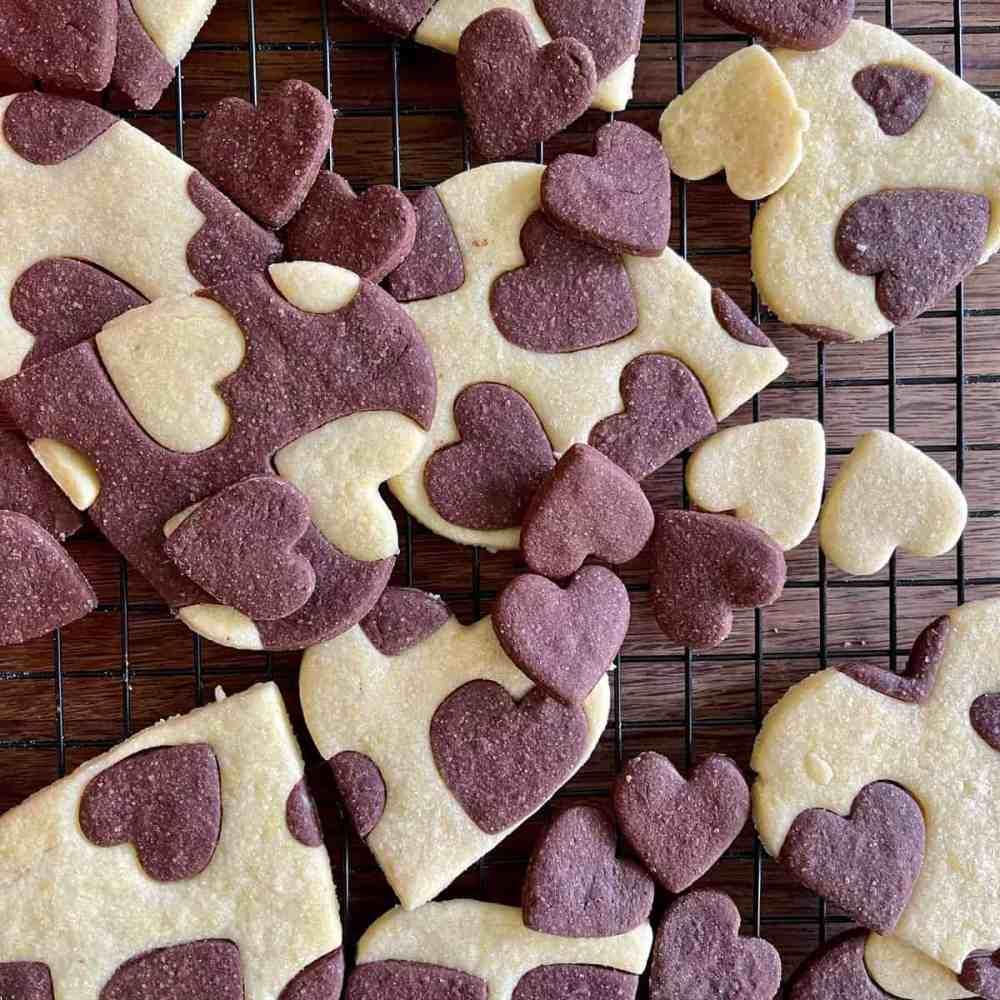 Kekse mit Herz.