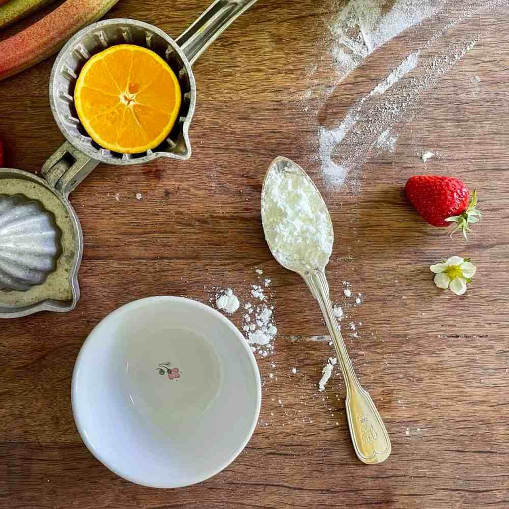 4 Esslöffel Orangensaft - am besten frisch!