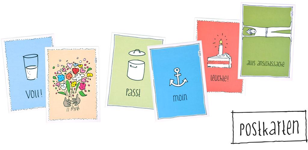 postkarten post karten agapi illustration