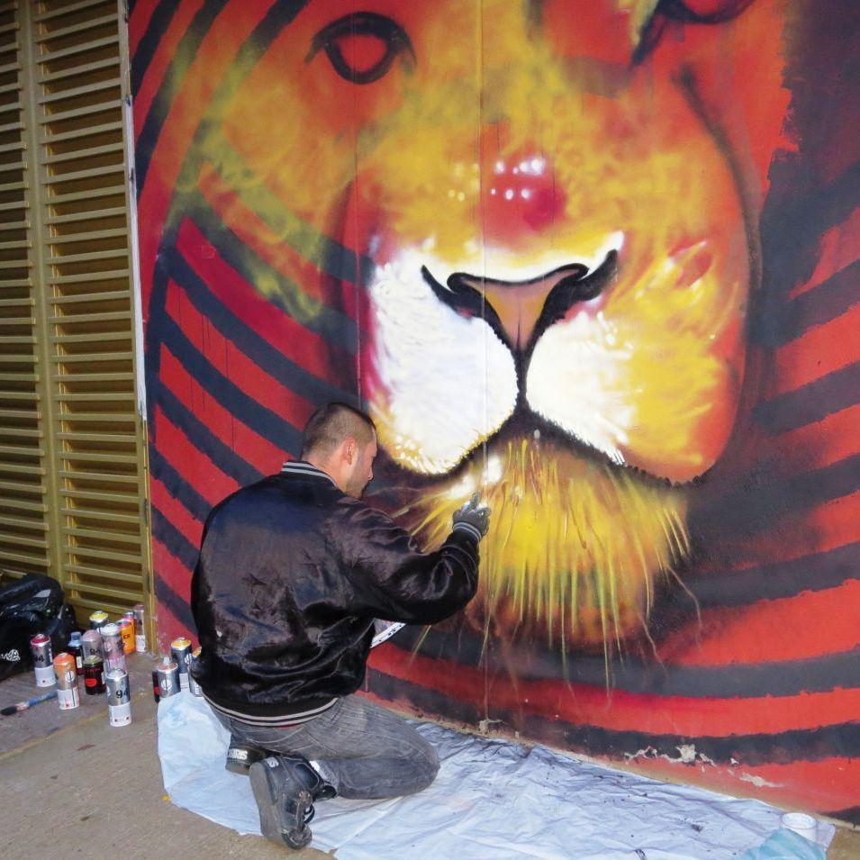 Bogota Graffiti Künstler