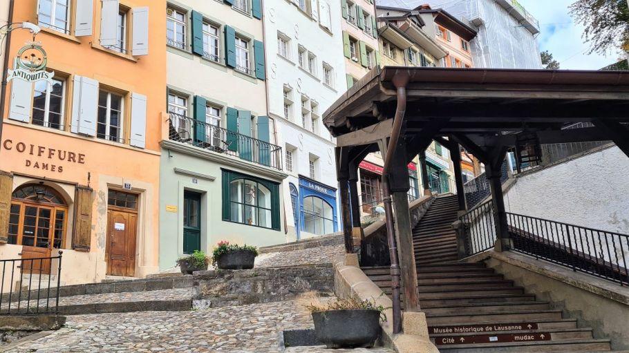 Treppen Altstadt Lausanne