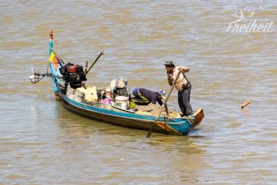 Fischer auf dem Tonle Sap