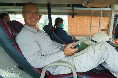 Im Sleeper Bus ist es etwas enger