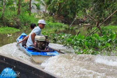 Innen überholt im Seitenarm des Mekong