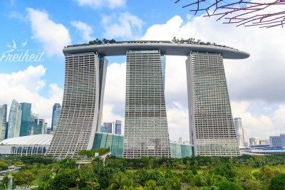 Marina Bay Sands vom Skywalk aus