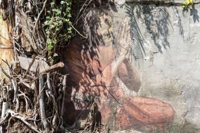 Kaum noch sichtbares Graffiti