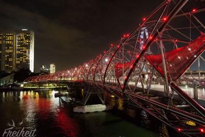 Die mit Preisen ausgezeichnete Helix Brücke - tolle Fußgängerbrücke mit genialem Stadtblick