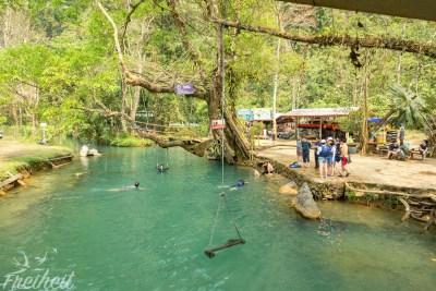 Blue Lagoon bei der Krabbenhöhle