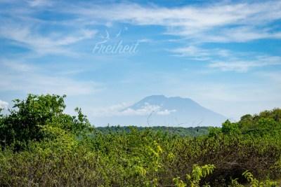 Blick zum Mount Agung von Bali