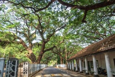 Unterwegs im ehemaligen Fort der Niederländer, die im 17. Jahrhundert Kolonialherrscher über Sri Lanka waren
