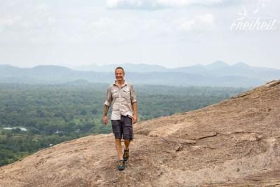 Auf dem Felsplateau des Pidurangala Rock